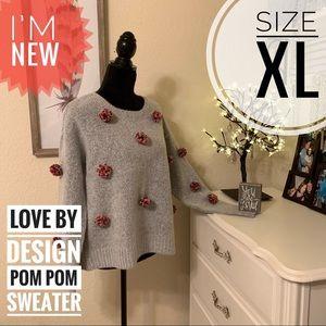 Nordstroms Love by design pom-pom sweater Size XL